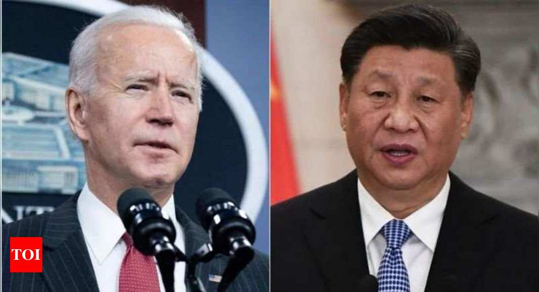 In call with Xi, Biden raises China's aggressive policies - Times of India