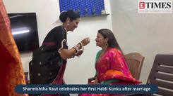 Here's how Sharmishtha Raut enjoyed her first Haldi Kunku