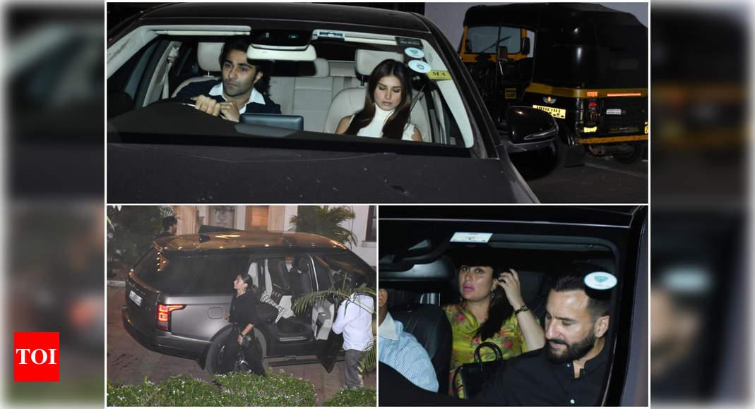 Alia Bhatt-Ranbir Kapoor, Tara Sutaria-Aadar Jain, Kareena Kapoor Khan-Saif Ali Khan and others arrive at Kapoor house in the city – Times of India