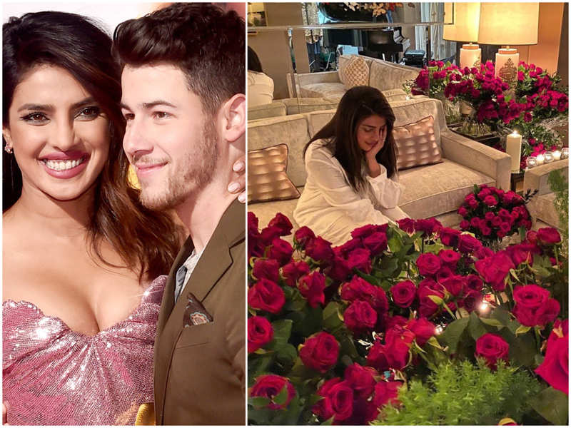 Priyanka Chopra misses hubby Nick Jonas for V'day as he gifts her a 'a couple of roses'