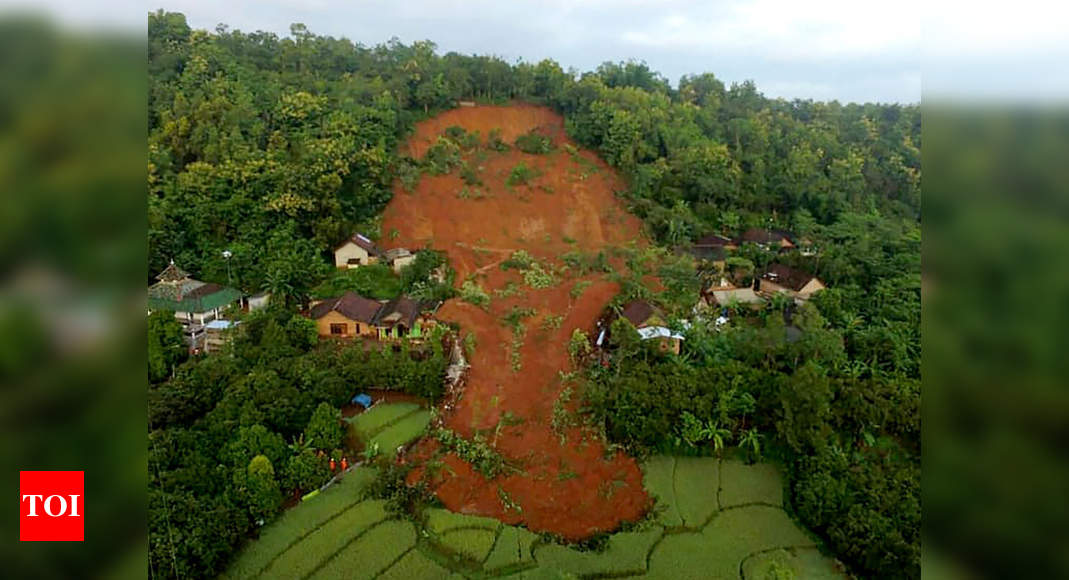 Rain sets off Indonesia landslide; 2 dead, 16 missing