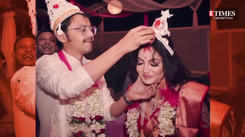 Glimpses from actors Sayantani Sengupta and Indranil Mullick's intimate wedding ceremony that took place on February 14