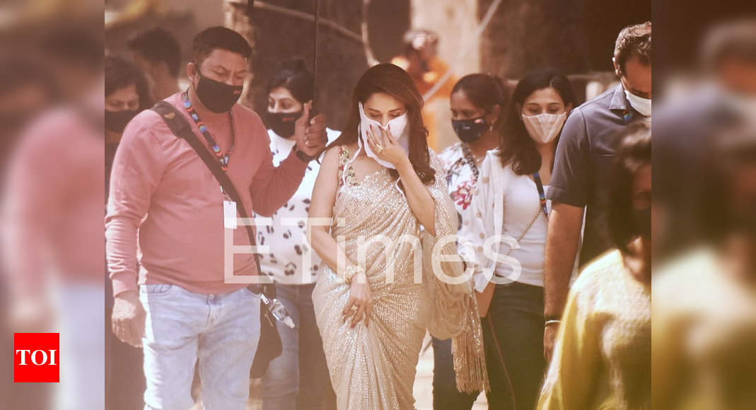 Exclusive Photos: Madhuri Dixit Nene is in a sunshine state of mind as she steps out in style to tend to her shoot commitments in the city – Times of India