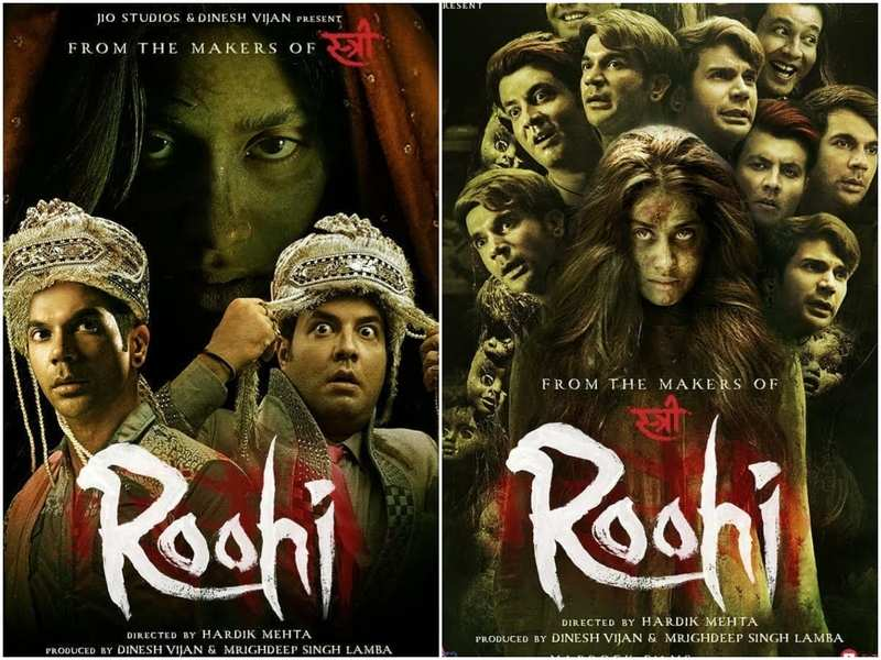 Roohi': Janhvi Kapoor turns into a ghost bride in the latest posters  featuring Rajkummar Rao and Varun Sharma | Hindi Movie News - Times of India