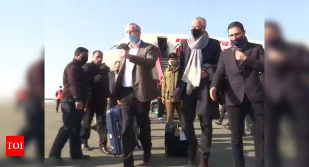 Foreign envoys arrive in J&K on 2-day visit - Times of India