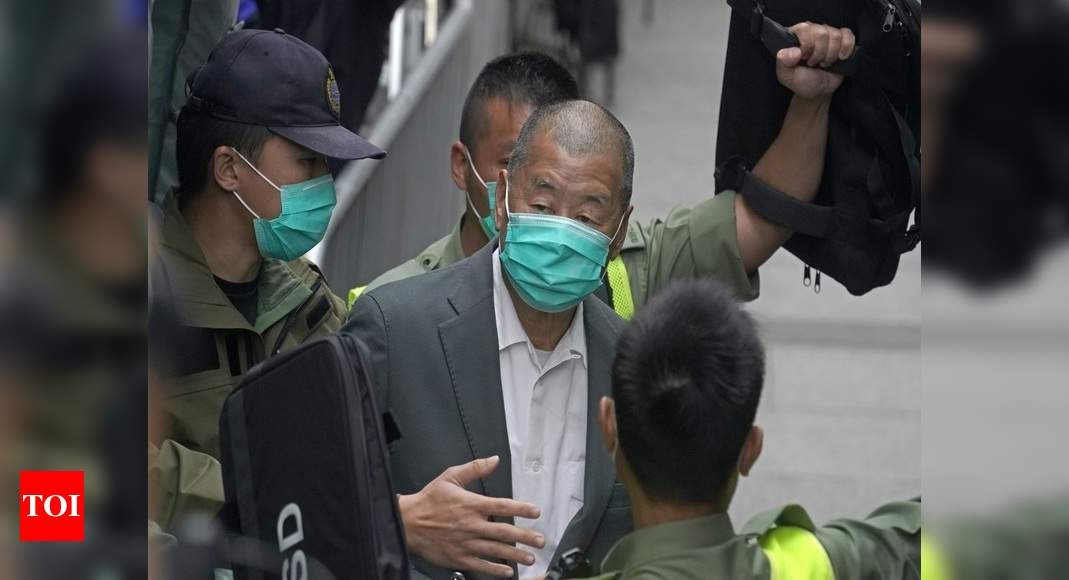 Jimmy Lai: Hong Kong media tycoon Jimmy Lai arrested over speedboat fugitives; Reports | World News – Times of India