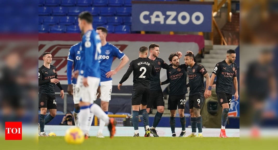 Classy Manchester City go 10 points clear with 3-1 win at Everton | Football News – Times of India