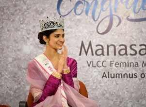 VLCC Femina Miss India World 2020 Manasa Varanasi gets emotional as she visits her alma meter Vasavi College of Engineering in Hyderabad