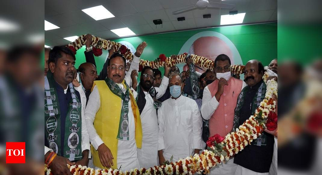 Jolt to LJP in Bihar as its 200 leaders and workers join JD(U) | India News – Times of India