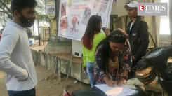 Signature campaign against nylon manjha