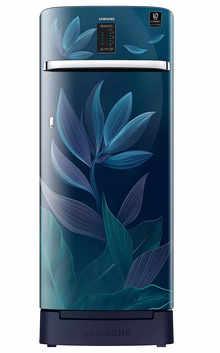 Samsung Single Door 225 Litres 4 Star Refrigerator Paradise Blue RR23A2F3X9U