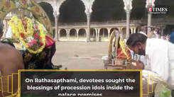 A peek into Rathasapthami celebrations in Mysuru