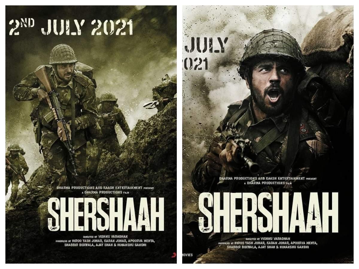 Shershaah': The Sidharth Malhotra and Kiara Advani starrer to hit the theatres on July 2, 2021   Hindi Movie News - Times of India