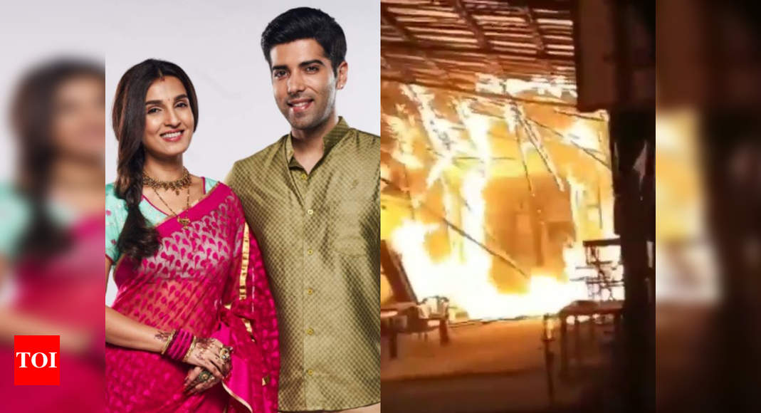 Major fire breaks out on the sets of Kinshuk Mahajan, Shiny Doshi's show Pandya Store - Times of India