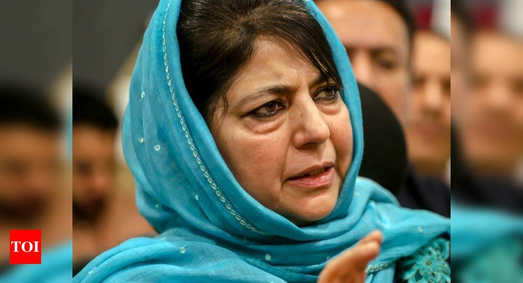 A day after J&K violence, Mehbooba Mufti calls for dialogue with Pakistan - Times of India