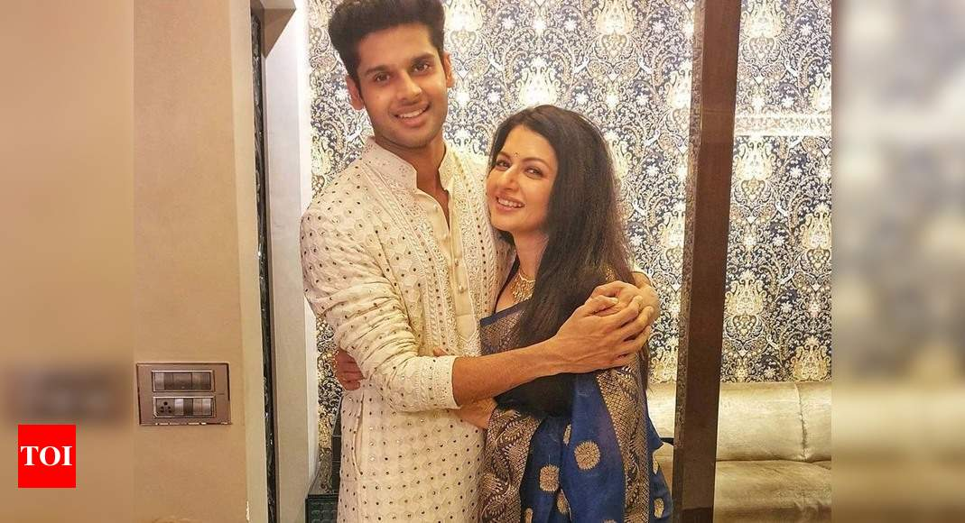 Exclusive interview! Bhagyashree on son Abhimanyu's birthday: I hope that God gives him the guidance to a - Times of India