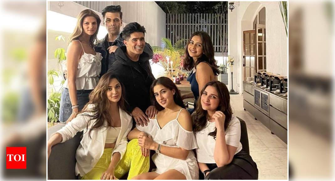 Sara Ali Khan, Kiara Advani, Karan Johar and other celebs arrive at Manish Malhotra's house party in the city – Times of India