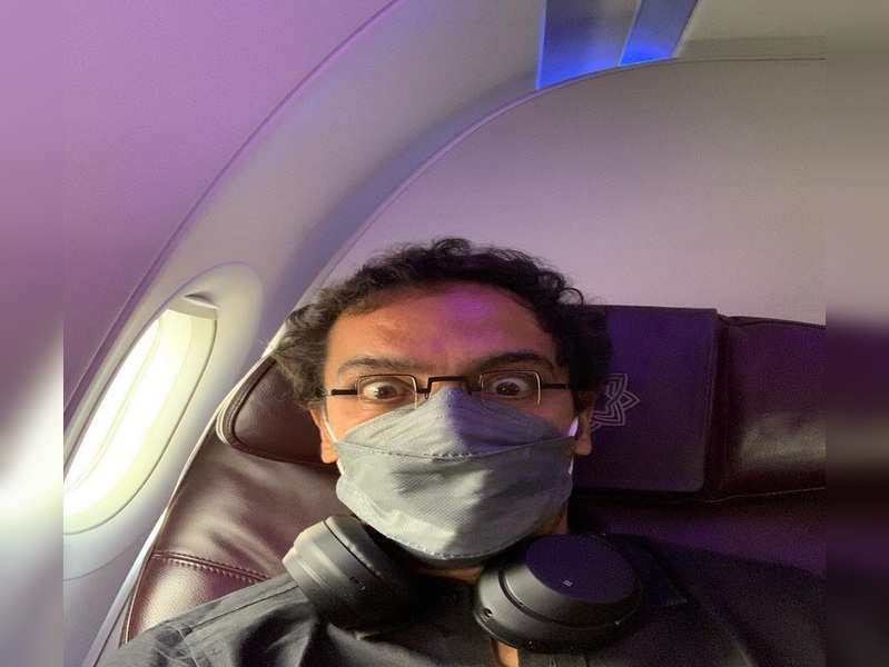 Vrajesh Hirjee was scared to board the plane