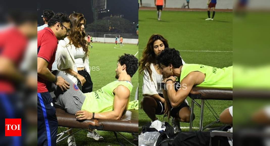 Tiger Shroff gets injured during his soccer session in the city; Disha Patani remains by his side – Times of India