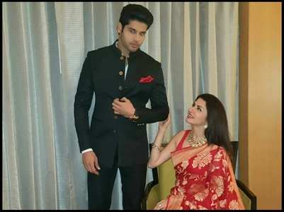 Bhagyashree showers love on son Abhimanyu
