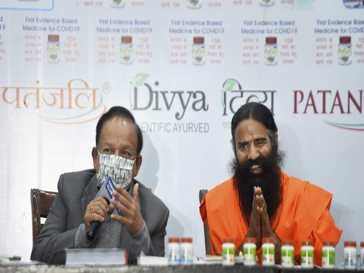 Patanjali Coronil: IMA 'shocked' over Patanjali's claim on Coronil; demands  explanation from Harsh Vardhan   India News - Times of India