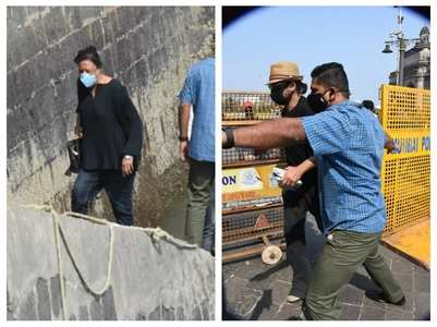 Pics: SRK spotted at the Gateway of India