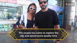 Dheeraj Dhoopar and Vinny Arora spotted at the Jaipur airport