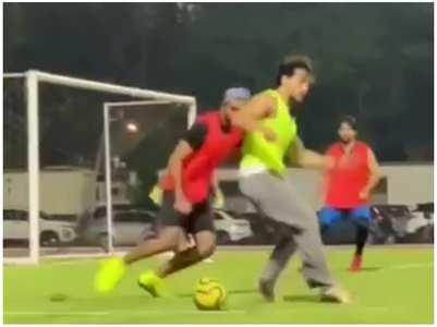Watch: Disha cheers for Tiger Shroff