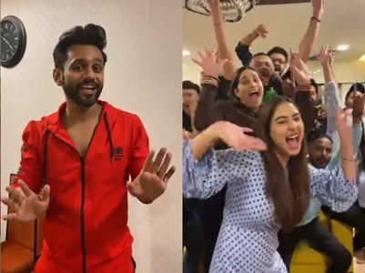 Rahul Vaidya gets caught by the 'Pawri' bug