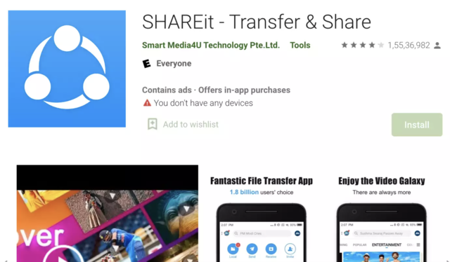 ShareIt app fixes issues that left users' data vulnerable to hackers