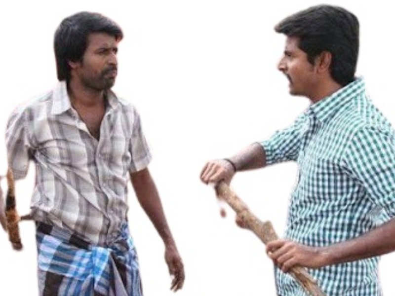 Sivakarthikeyan and Soori in a heated argument playing cricket
