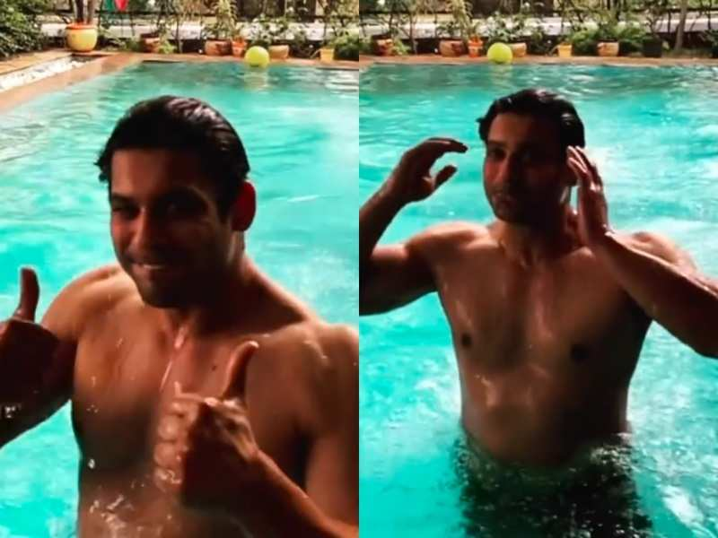 Watch: Fans go berserk as Bigg Boss 13 winner Sidharth Shukla shares video of him taking a dip in the pool