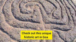 Rock carvings in South Goa