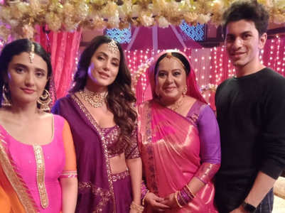 Hina Khan's special shoot with Ragini-Neelu