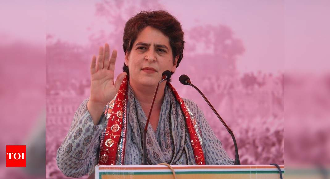 Mathura will break ego and arrogance of BJP: Priyanka Gandhi |  India News – Times of India
