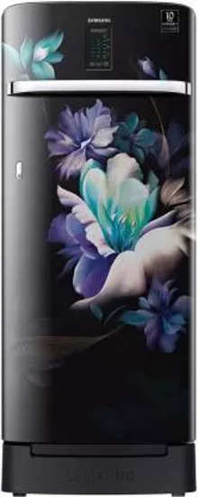 Samsung Single Door 220 Litres 4 Star Refrigerator MIDNIGHT BLOSSOM BLACK RR23A2K3XBZ