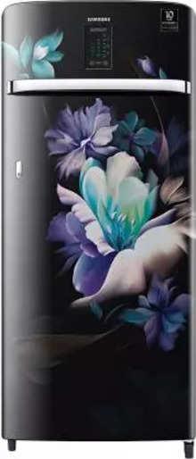 Samsung Single Door 220 Litres 4 Star Refrigerator MIDNIGHT BLOSSOM BLACK RR23A2J3XBZ