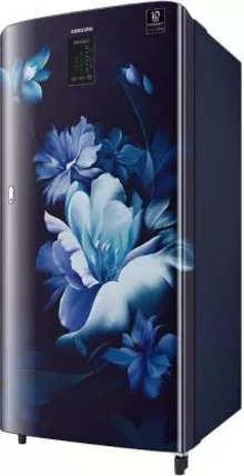 Samsung Single Door 192 Litres 4 Star Refrigerator MIDNIGHT BLOSSOM BLUE RR21A2M2XUZ