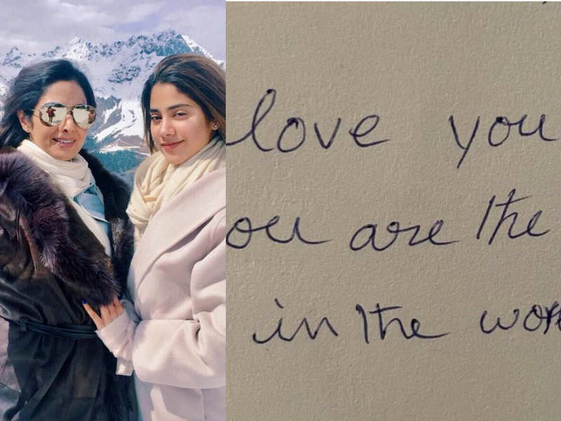 Janhvi Kapoor shares a handwritten note by mommy Sridevi on her 3rd death anniversary