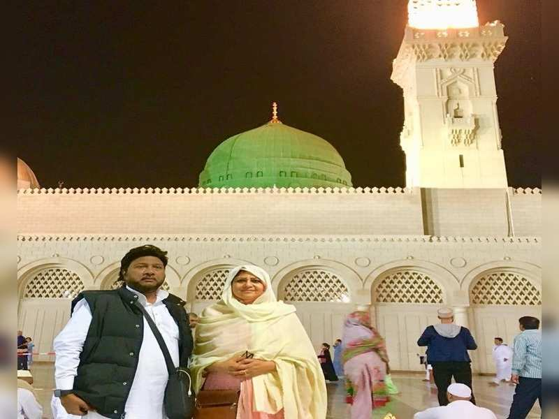 File photo of Sardool and wife Amar Noorie from their Mecca visit