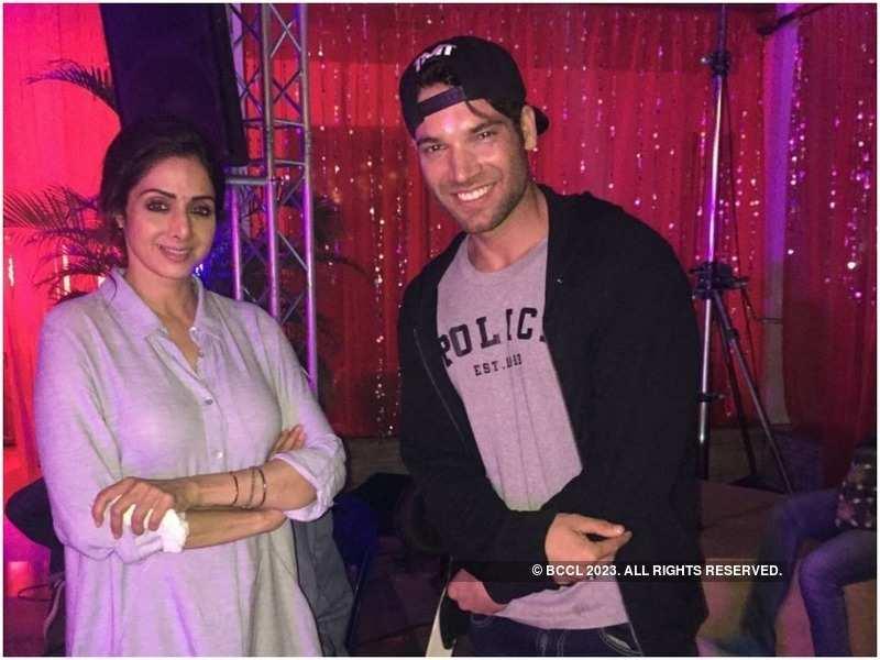 Vikas Verma with Sridevi on the sets of Mom