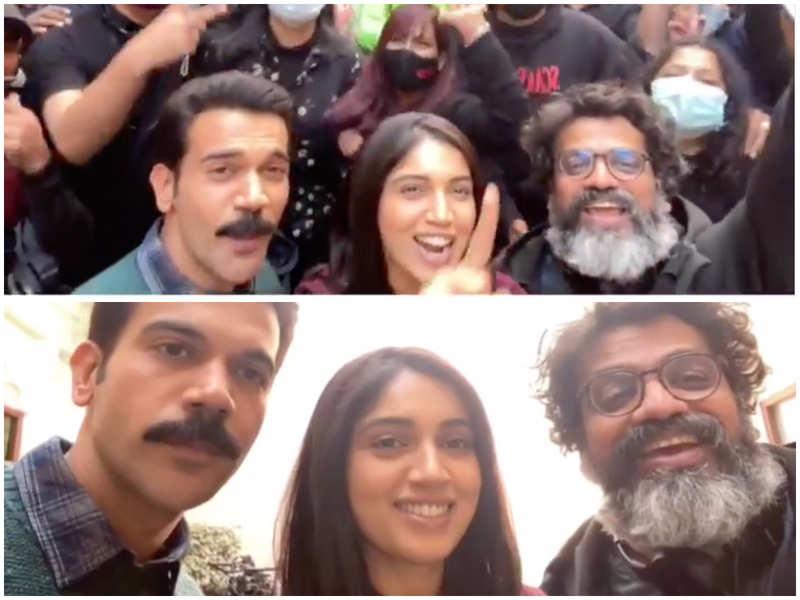 It's a schedule wrap for 'Badhaai Do'! Rajkummar Rao and Bhumi Pednekar's #pawrihorahihai video from the sets is a warm hug to fans