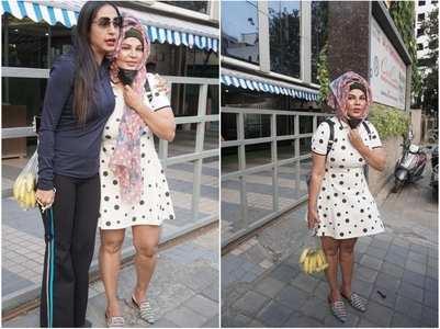 Kashmera visits hospital to meet Rakhi's mom