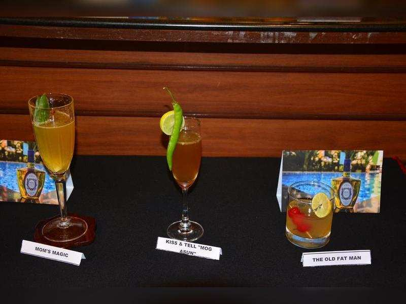 cocktails showcased at the event
