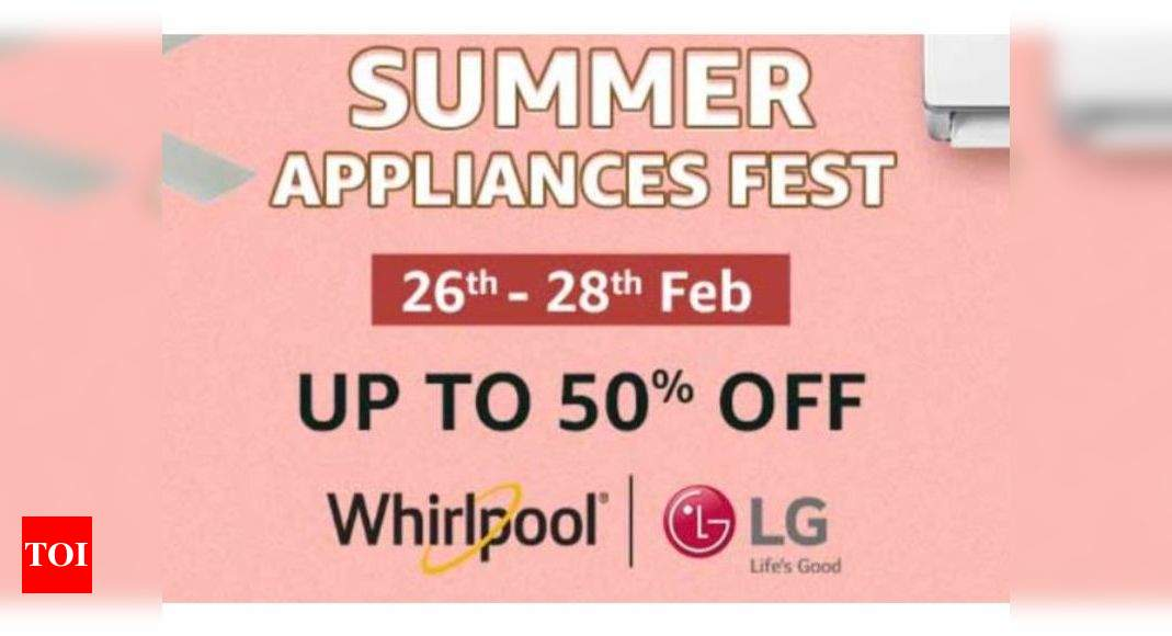 summer appliances fest on amazon: Summer Appliances Fest on Amazon: Get up to 50% off on ACs, refrigerators, coolers and more – Times of India