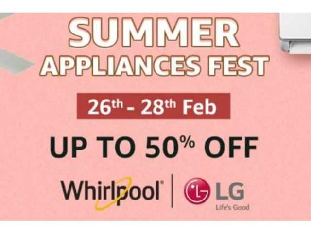 Summer Appliances Fest on Amazon: Get up to 50% off on ACs, refrigerators, coolers and more