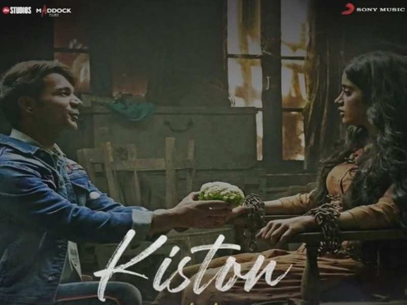 Rajkummar Rao confesses his love for Janhvi Kapoor in 'Roohi' new song 'Kiston'