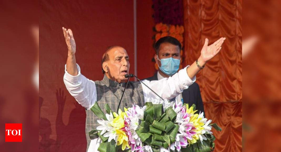 'Majboot PM' ensures that if he promises 100 paise to people, it reaches them: Rajnath Singh | India News – Times of India
