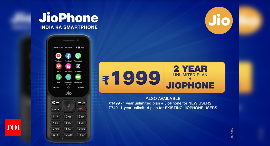 Reliance Jio announces New JioPhone 2021 offer – Times of India