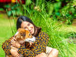 Exclusive pictures of Akansha Ranjan Kapoor with her dog Maji